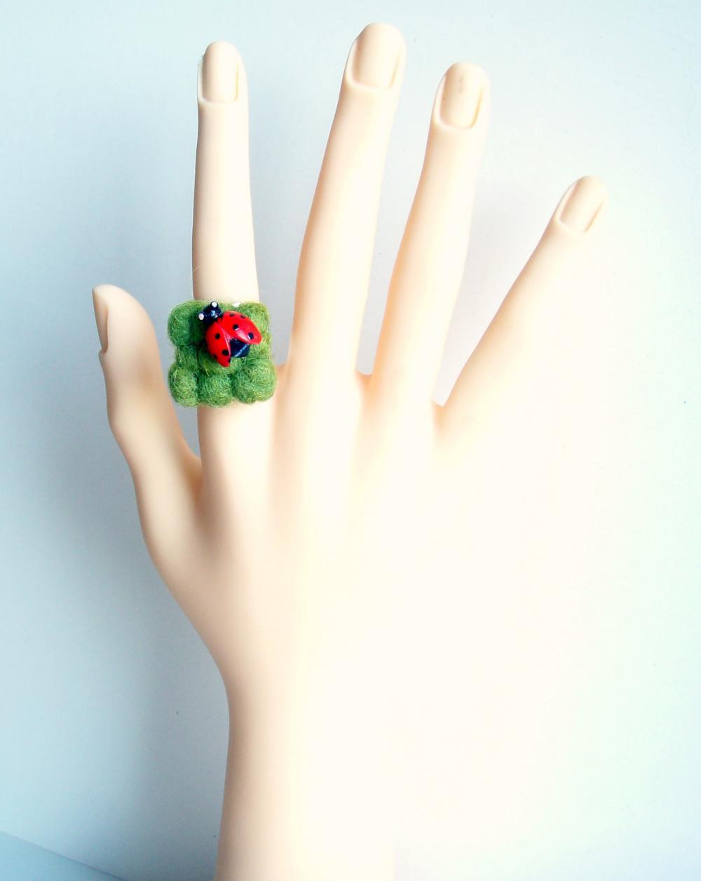 Ladybug green ring